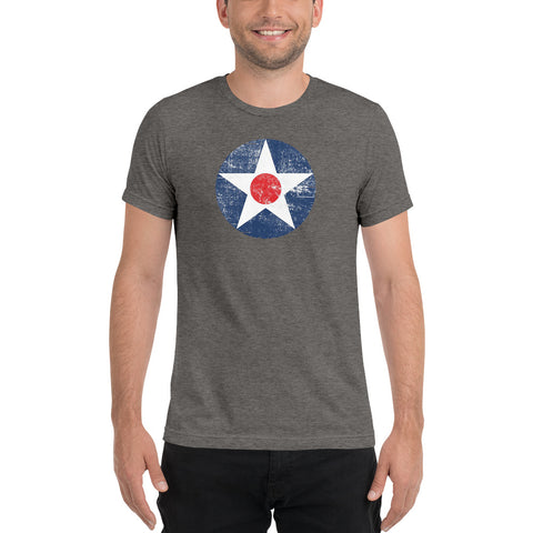 Axis & Allies US Star with Red Dot (Distressed) Men's T-Shirt