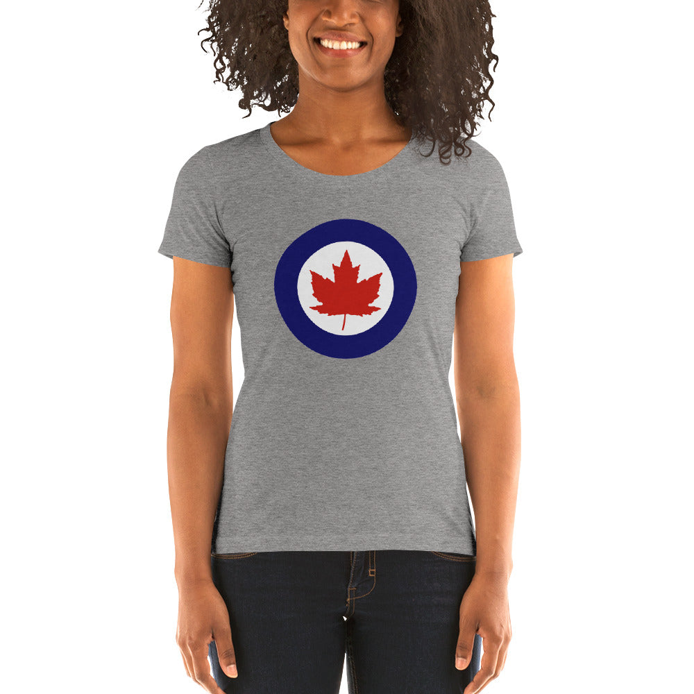 WW2 Canadian Roundel Ladies' short sleeve t-shirt