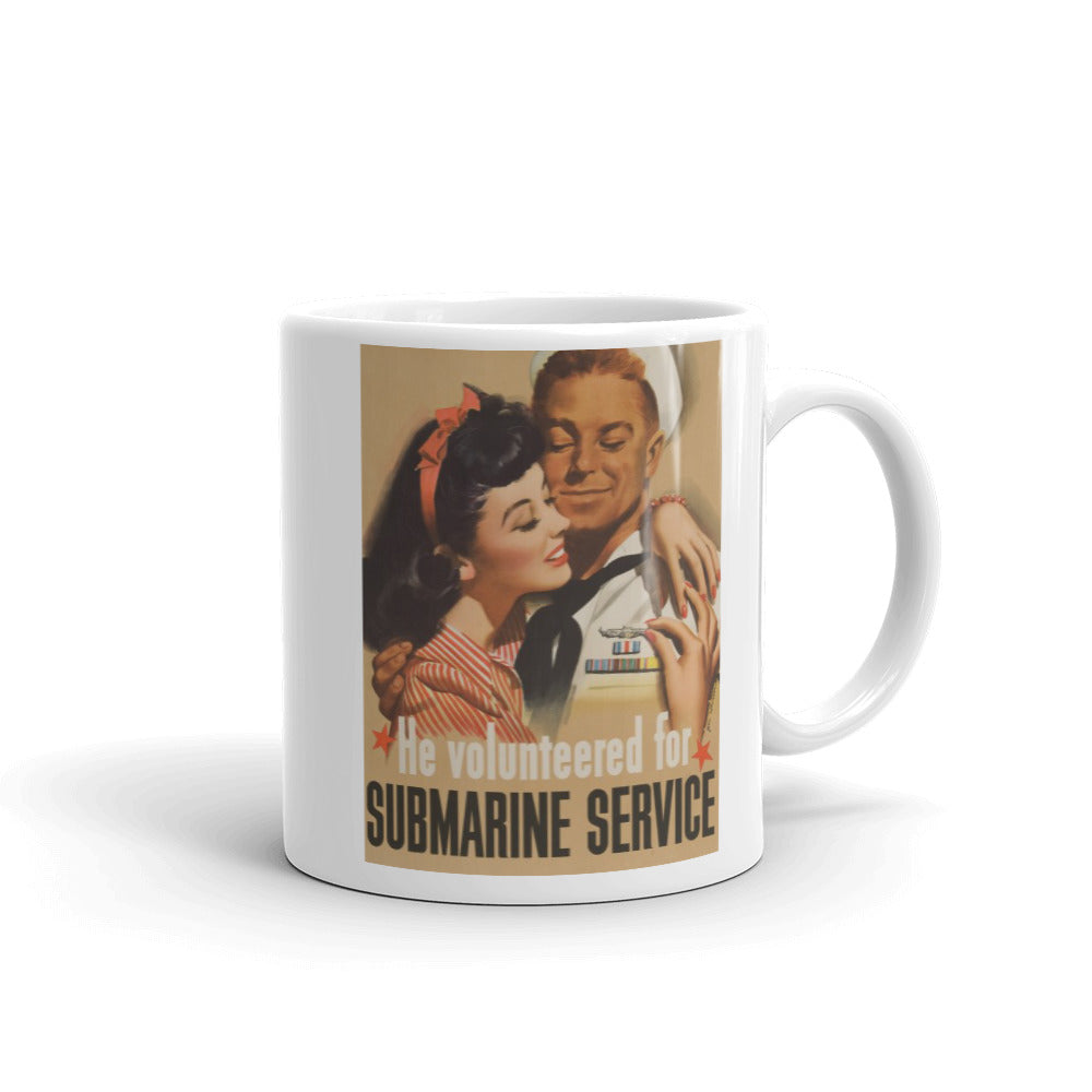 WW2 US Submarine Recruitment Poster Mug
