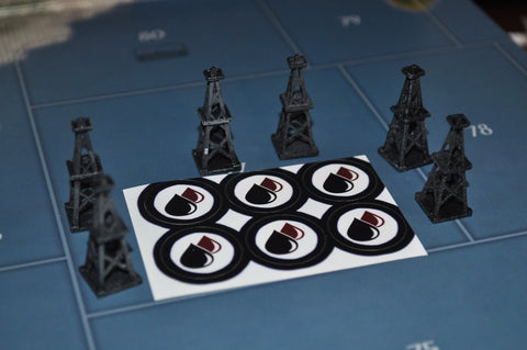 Oil Derrick (6) Pack w/ Oil Field Stickers
