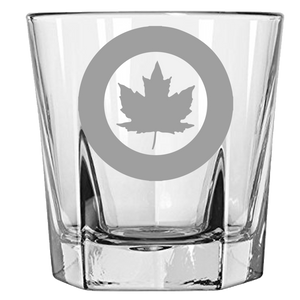 Canadian Airforce Roundel Rock Glass
