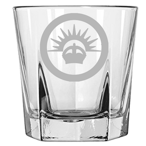 Axis & Allies ANZAC Roundel Rock Glass