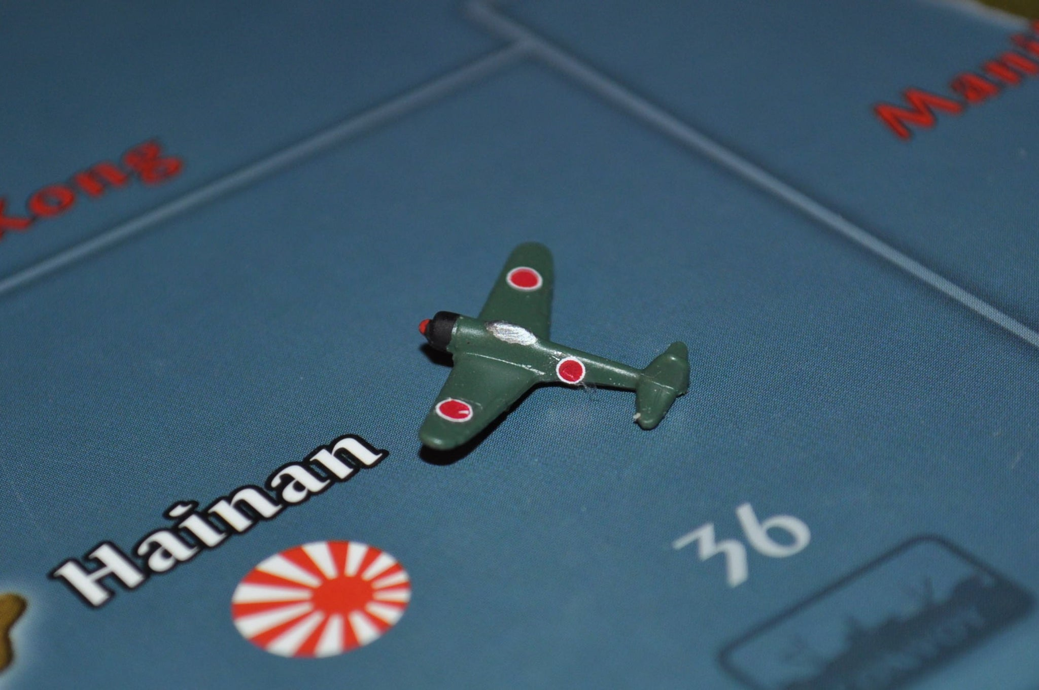 "Custom Painted Japanese Ki-43 ""Oscar"" Fighter in Green"