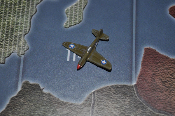 Custom Painted US P-40 Warhawk Fighter