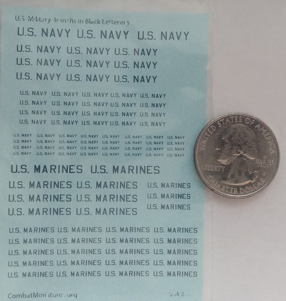 1/285 US Military Branches (Navy & Marines) in White