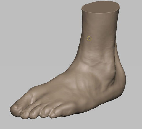 Alaba's 3D scanned foot