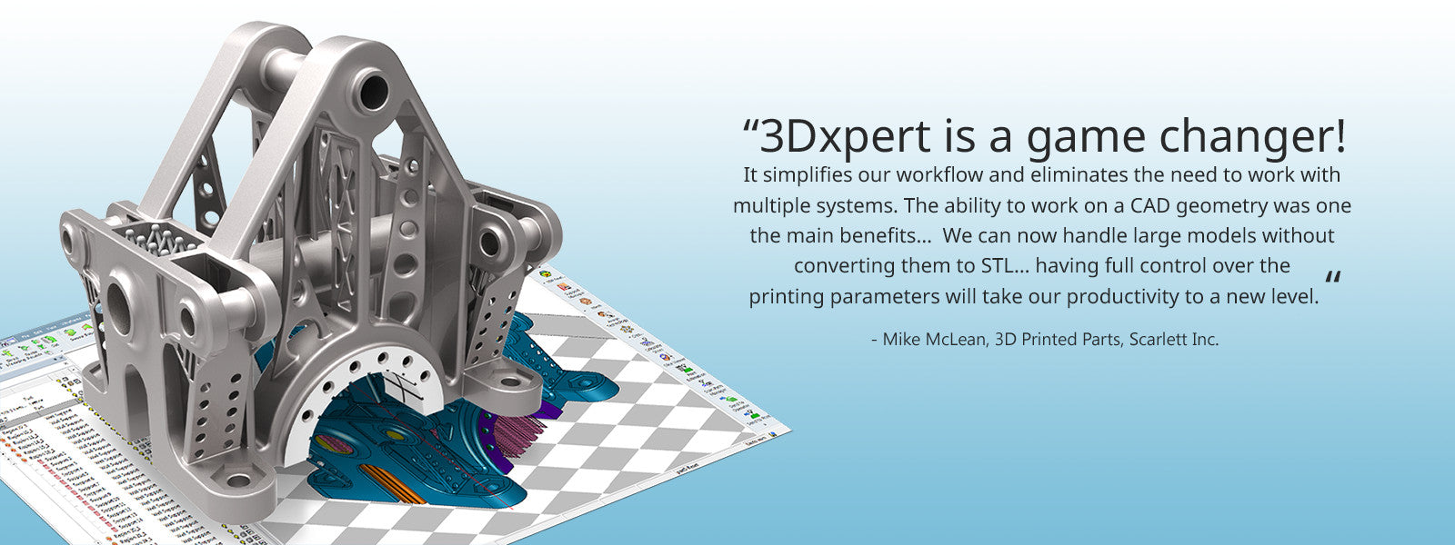 3D Systems Mike McLean Quote