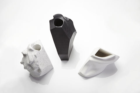 Vases created by 3D scans