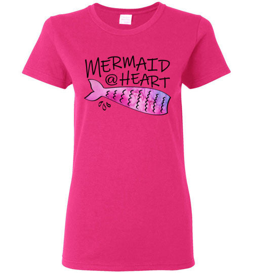Mermaid At Heart Ladies Crew Neck T-shirt