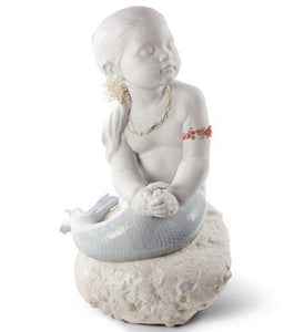 Lladro Princess of the Waves Stunning Mermaid Girl