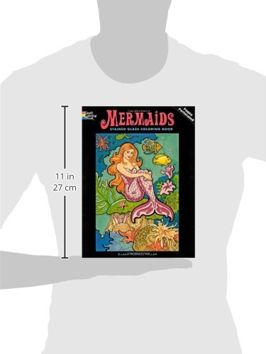 Mermaids Stained Glass Coloring Book (Dover Stained Glass Coloring ...