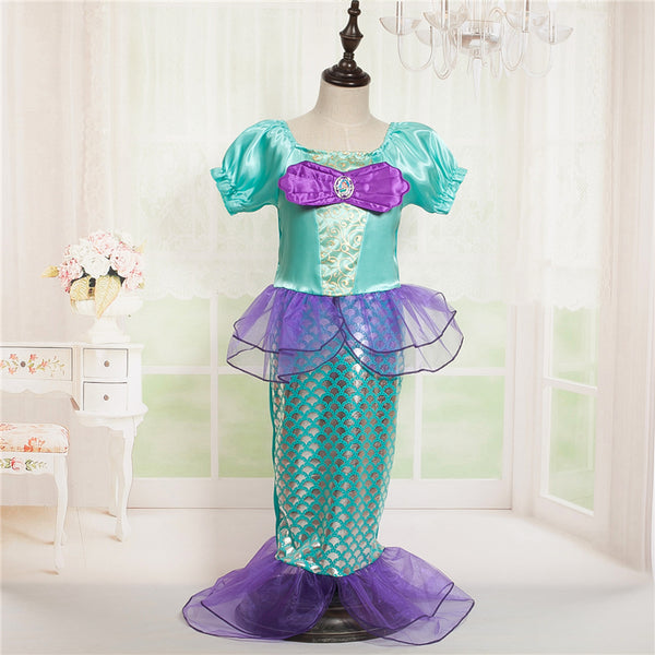 Halloween Costume for Your Little Mermaid! Beautiful Mermaid Dress for ages 3 to 10. FREE SHIPPING!