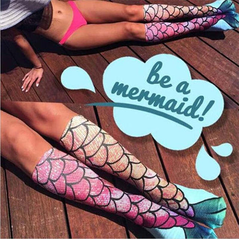 Wear Your Mermaid Tail In Pride! Adorable Mermaid Socks Take You Under the Sea!