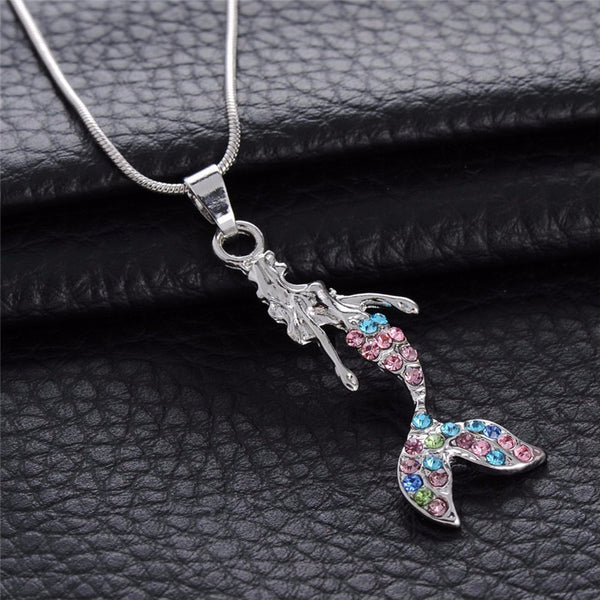Crystal Tail Mermaid Necklace