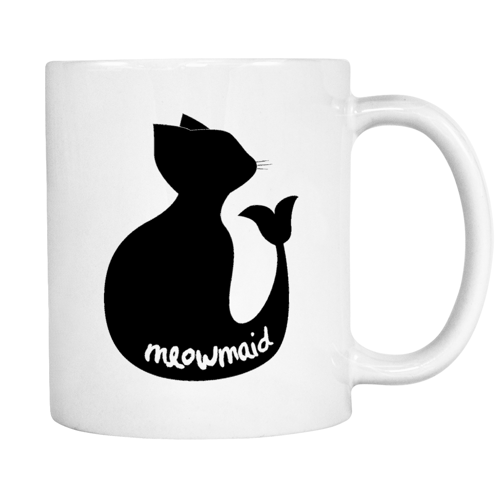 Meowmaid - The Best Of Both Worlds! 11 oz. Ceramic Coffee Mug
