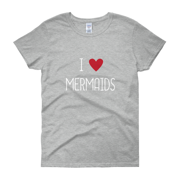 I Heart Mermaids - Women's short sleeve t-shirt (DARK COLORS)