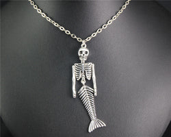 Mermaid Skeleton Necklace - Awesomely Creepy and Totally Unique!
