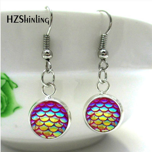 Mermaid Scale Dangle Earrings - FREE SHIPPING!