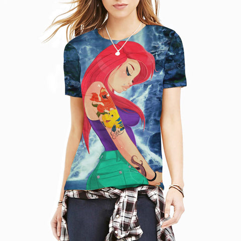 Do you love your redheaded punk princess? Show your love with this t-shirt full of feels. S- 2X