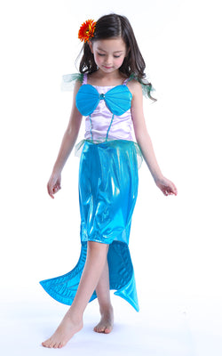 Mermaid Dress With Tail! Halloween is Coming - Does Your Little Mermaid Have Her Costume Ready?