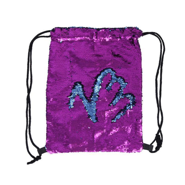 Awesome Reversible Sequin Drawstring Mermaid Backpack - Glittery and Gorgeous!
