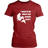 I Want To Be Where The People Aren't Mermaid T-Shirt
