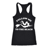 Follow Me To The Beach Mermaid Racerback Tank, 5 colors!