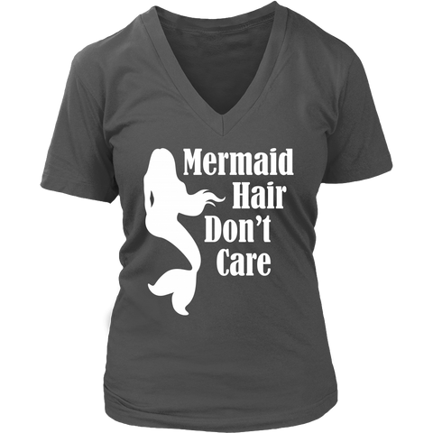 Mermaid Hair Don't Care Super Soft V-Neck T-Shirt