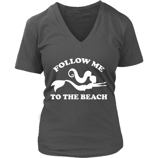 Follow Me To The Beach Super Soft Mermaid V-Neck in 6 colors, sizes S - 4X