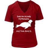 Seals are Dog Mermaids, Super Soft Tee, S - 4X, Darks