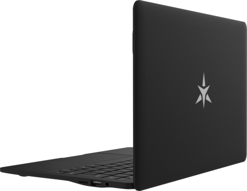 Star Lite Mk II Linux laptop computer open showing lid cover