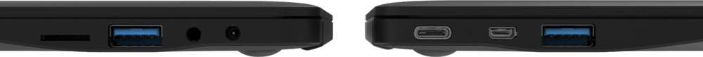 Star Lite Mk III Linux laptop computer closed showing USB-C, HDMI and USB 3.0 ports