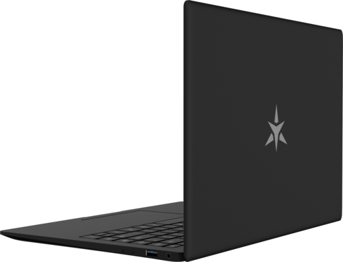 Star LabTop Mk III Linux laptop computer open back showing iconic star logo