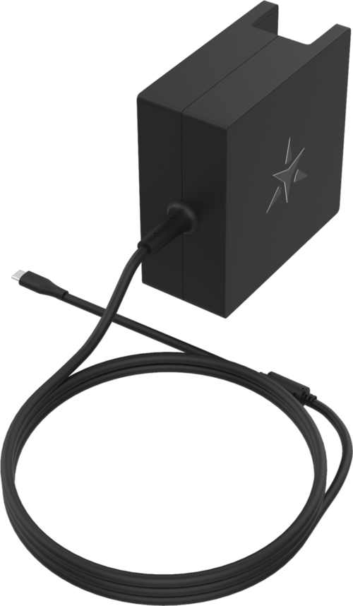 65w USB-C wall charger with no plug attached showing 2 metre lead
