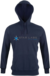 Star Labs Vintage Hooded Sweatshirt showing front with logo, hood and full length arms in Vintage Navy