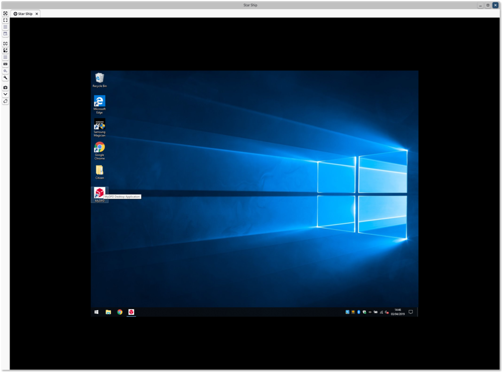 Remmina using Remote Desktop to connect to  Windows 10