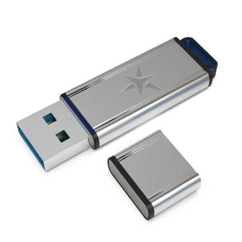 Star Drive USB 3.0 Metal Recovery Drive 8GB with lid removed