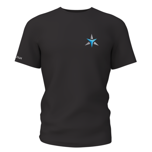 Star Labs Stretch T-Shirt showing front with logo in Heather Charcoal