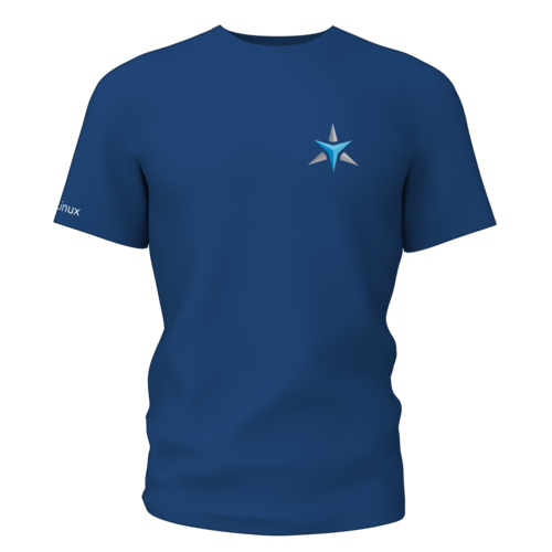 Star Labs Stretch T-Shirt showing front with logo in Navy