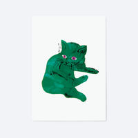 Green Cat, Print, Andy Warhol, Producto, Ilustracion,