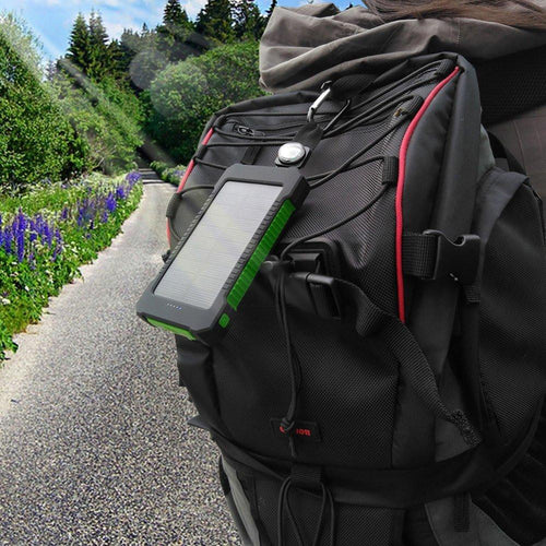 Hikers Peak Rugged and Waterproof Solar Panel Charger With LED Light, Mobile Phone accessories - GLgear.com