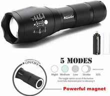 Hikers Peak Tactical 2000 Lumen Zoom LED Flashlight, Sporting Goods - GLgear.com