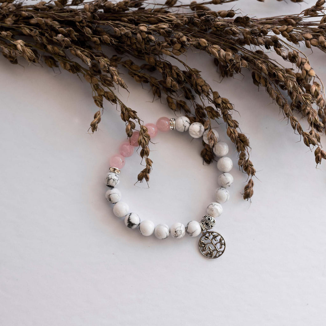 Infertility Bracelet - Rose Quartz