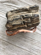 Hammered Copper Wave Bangle