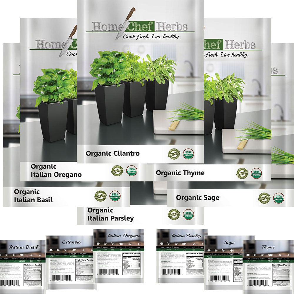 Chefs buying fresh herbs - Usda Organic Culinary Collection Of Herb Seeds Best Seller Home Chef Herbs Home Chef Herbs