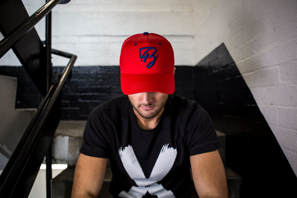 Limited Edition Red & Navy Blue Trucker Cap