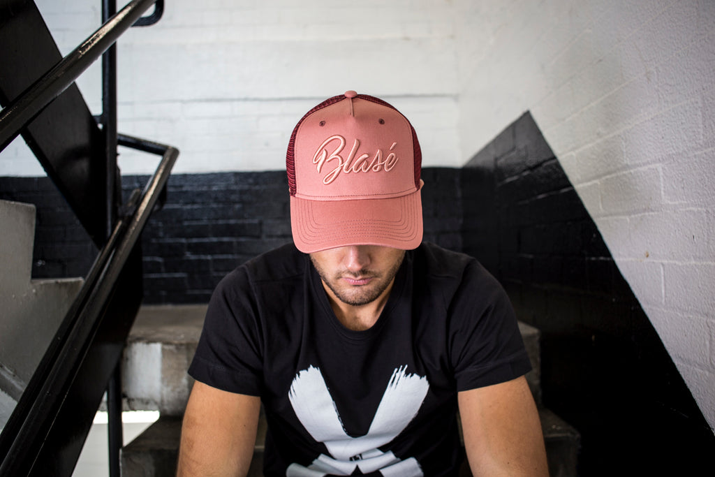 Limited Edition Salmon Pink Mesh Trucker