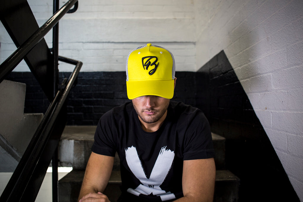 Limited Edition Yellow/Black Mesh Trucker