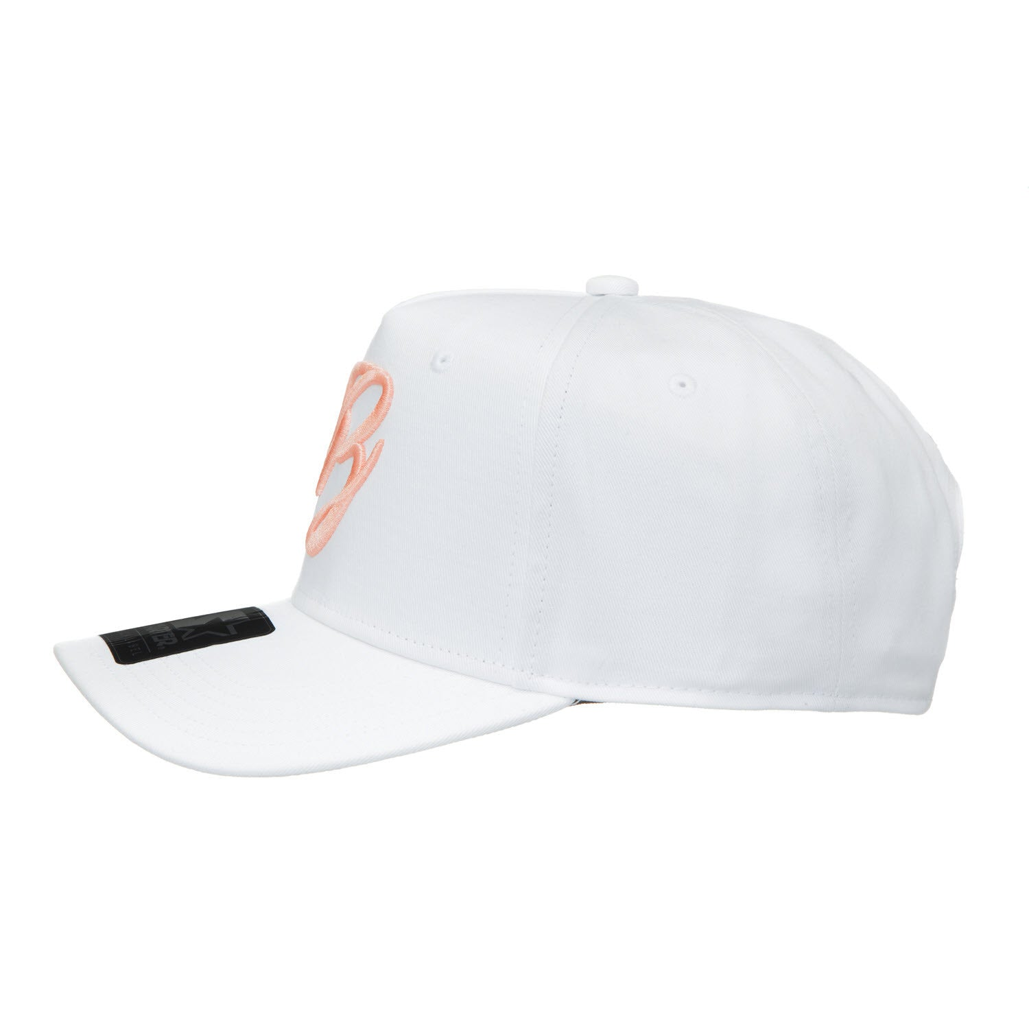 White/Peach Trucker Snapback - BLASE HAT