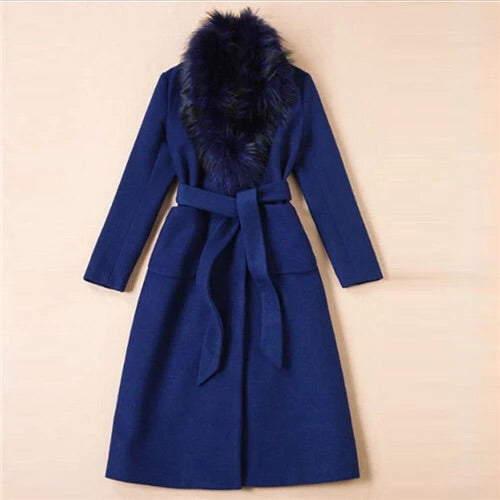 Blue winter Fall jacket